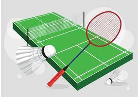 Badminton Gericht Vektor Set