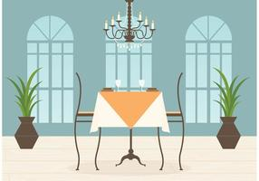 Kostenloses Restaurant Innenraum Vektor