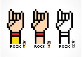 Free Vector Pixel Rock und Roll Handzeichen