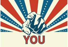 Gratis Vector Uncle Sam pekande hand
