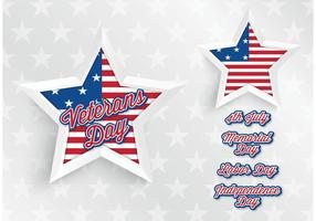 Free Vector Abstract USA Star Hintergrund