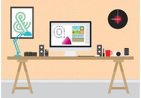 Design Arbeitsplatz vektor