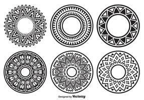Dekorerad cirkelform vektor