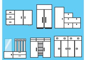 Möbler och Skåp Vektorer