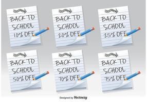 Zurück zu Schule Discount Notes