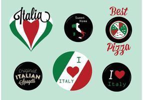 Italienische Abzeichen-Vektoren vektor
