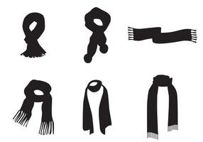 Neck Scarf Vector Silhouettes