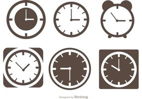 Desktop Clock Silhouette Vectors