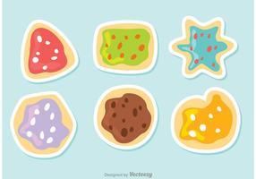 Läckra Cookiesvektorer Pack vektor