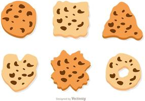 Choklad Chip Cookie Vector Set