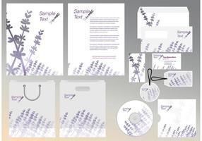 Lavendel-Identitätsvorlage vektor