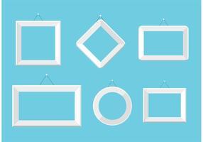 Set von weißen Foto-Frame-Vektoren vektor