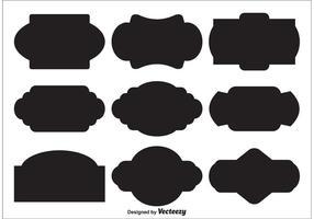Vektor-Etikettenformen vektor