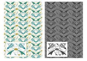Free Flourish Art Deco Vektor Muster