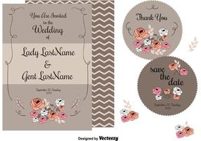 Hochzeits-Einladungs-Karten vektor