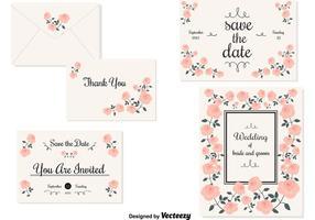 Bröllop Inbjudningskort vektor