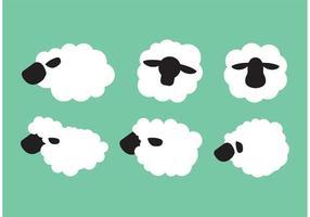 Schaf isoliert vektor