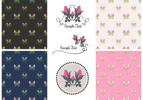 Kostenlose Vektor Vintage Rose Patterns