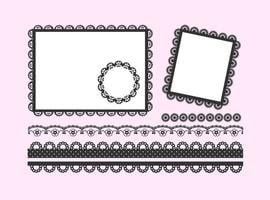 Gratis Vector Black Lace Frames And Borders