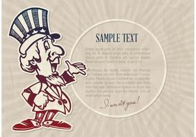 Freier Vektor Cartoon Uncle Sam