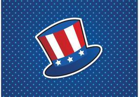 Free Uncle Sam Hut Vektor Hintergrund