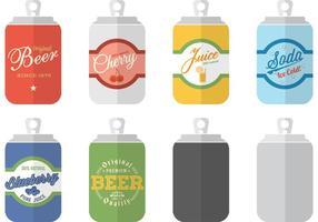 Kostenlose Soda Can Vorlagen Vektor