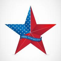 Freier glücklicher Veteranen-Tag mit USA-Stern-Vektor vektor
