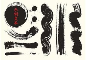Kostenlose chinesische Kalligraphie Vektor Pinsel