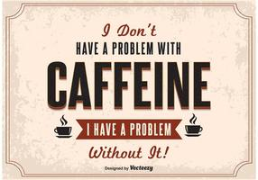 Typografie Kaffee Poster