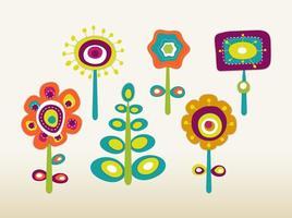 Retro Frühlingsblumen