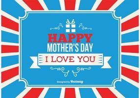 Glad mors dag bakgrund vektor