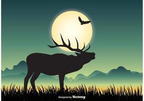 Djurliv landskap illustration