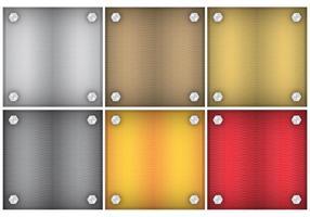 Quadratische Metall Hintergründe