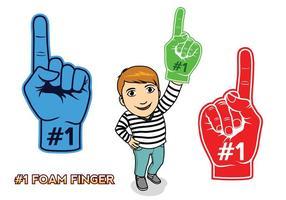 # 1 Schaum Finger vektor