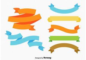 Bunte Bänder und Etiketten vektor