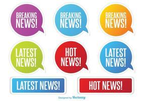 Neueste Nachrichten Etiketten vektor