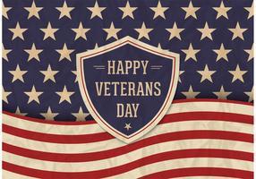 Freier Veteranen-Tagesvektor Retro Plakat