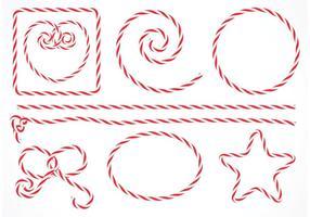 Free Vector Isoliert Süßigkeiten Streifen Seil Set