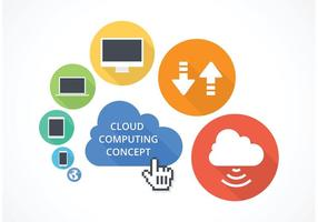 Free Vector Cloud Computing Konzept