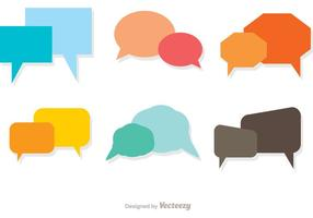Bunte Live Chat Icons Vector Pack