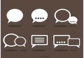 Chatt ikoner vektor