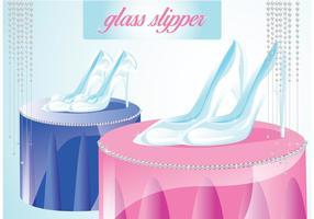 Glas-Slipper-Vektor vektor