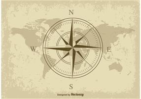 Nautisk karta vektor