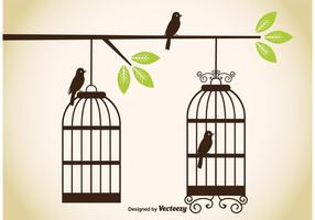 Vintage birdcage vektorer