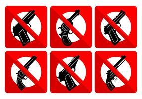 Inga vapenskyltar vektor