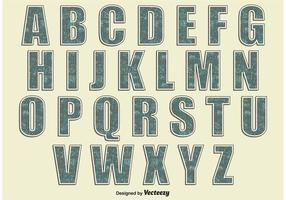 Retro stil alfabetet vektor