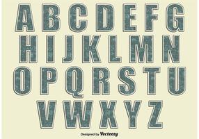 Retro-Stil-Alphabet vektor