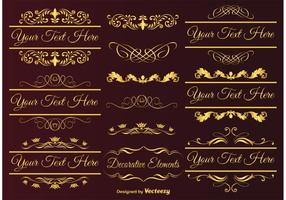 Gold Design Elemente