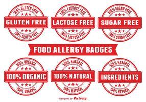 Mat allergi märken vektor