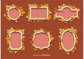 Höstens dekorativa ramar